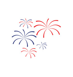 fireworks icon design template isolated vector image