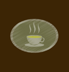 flat shading style icon logo coffee cup vector image