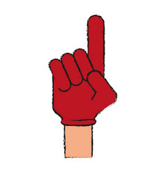 foam finger icon image vector image