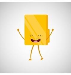 folder character design vector image