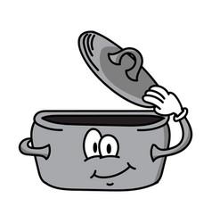 gentleman cartoon pot character vector image