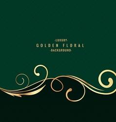 golden luxury floral background vector image