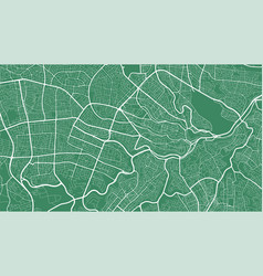 Green and white background map amman city area vector