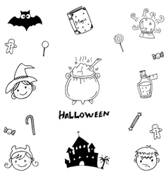 Halloween element magic in doodle vector