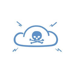 Internet cloud hacked vector