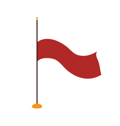 isolated flag of poland vector image