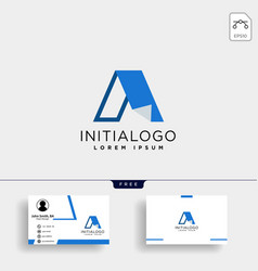 letter a creative logo template with business vector image