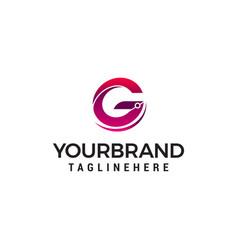 letter g logo design concept template vector image