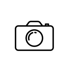 Line camera icon on white background vector