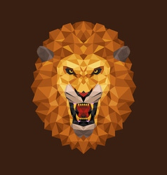 Lion head polygon geometric vector