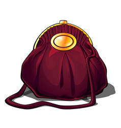 luxury women evening handbag purse with gold badge vector image