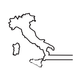 map of italy continous line vector image