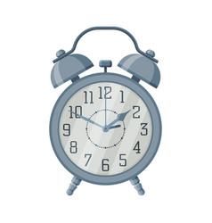 metal old fashioned alarm clock time measuring vector image