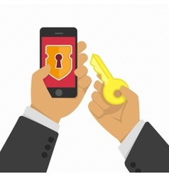 Mobile phone security concept vector image
