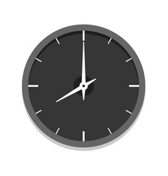 modern black clock icon single isolated vector image