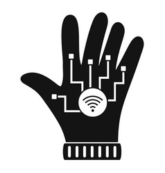 nfc glove icon simple style vector image