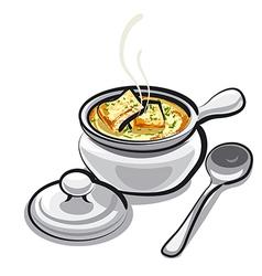 Onion soup vector