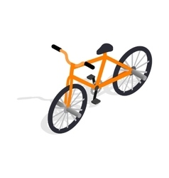 Orange bike icon isometric 3d style vector image