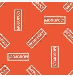 Orange MONOPOLY stamp pattern vector