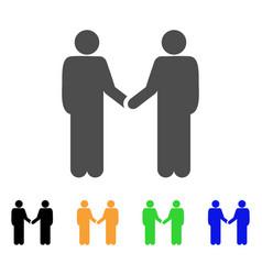 persons handshake icon vector image