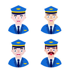 pilots on white background vector image