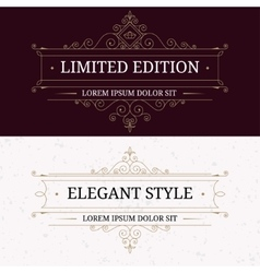 Set of vintage frames for luxury logos vector image