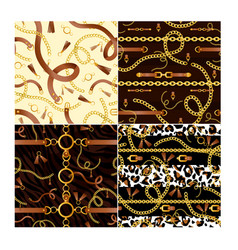 set seamless patterns with vector image