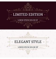 set vintage frames for luxury logos vector image