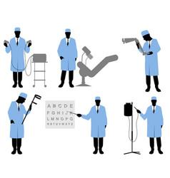 Six doctors set vector