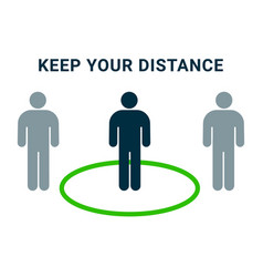 social distance icon keep distance people vector image