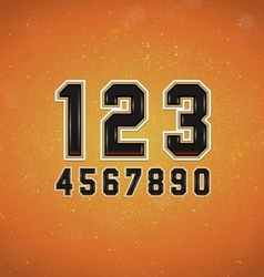 Sport Style Numbers vector image