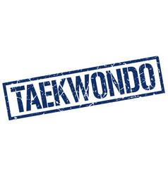 taekwondo stamp vector image