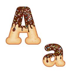 tempting typography font design 3d donut letter a vector image