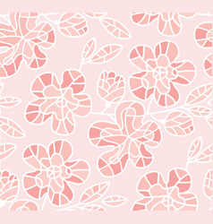 tender pastel rosy sakura flowers seamless pattern vector image