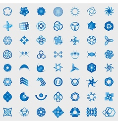 Unusual Icons Set - Isolated On Gray Background vector image