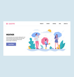 Web site gradient design template happy vector