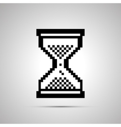 White pixelated computer cursor in hourglass shape vector image