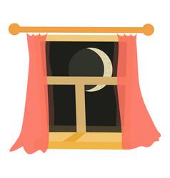 window night icon cartoon style vector image