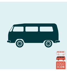 Camper bus icon isolated vector image vector image