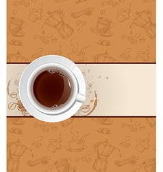 coffee background and cup vector image