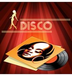 Disco club poster design vector image vector image