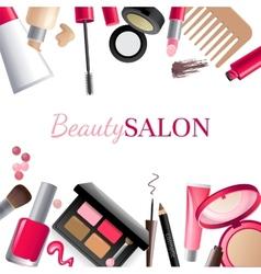 Glamorous make-up background vector