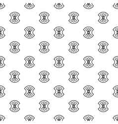 Shield with ornament pattern simple style vector image