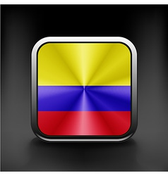 3D Ball with Flag of Colombia High resolution 3d vector image vector image