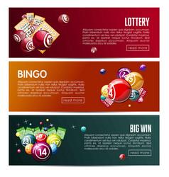 bingo lottery online lotto game web banners vector image