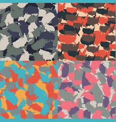 colorful america urban camouflage set of usa vector image vector image