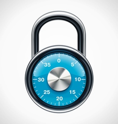 combination padlock vector image vector image