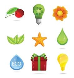 nature and eco symbols big set vector image vector image