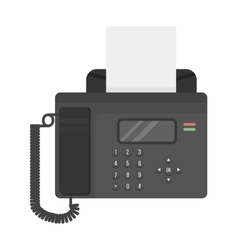 Office phone fax technology vector image