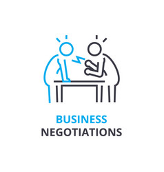 business negotiations concept outline icon vector image